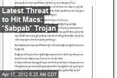 Latest Threat to Hit Macs: 'Sabpab' Trojan