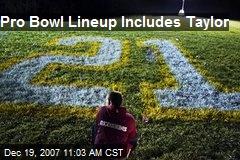 Pro Bowl Lineup Includes Taylor