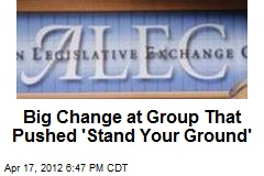 Big Change at Group That Pushed 'Stand Your Ground'