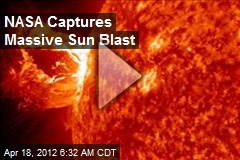 NASA Captures Massive Sun Blast