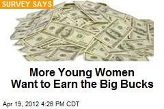More Young Women Want to Earn the Big Bucks