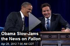 Obama Slow-Jams the News on Fallon