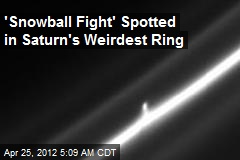 'Snowball Fight' Spotted in Saturn's Weirdest Ring