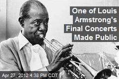 One of Louis Armstrong's Final Concerts Made Public