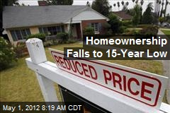 Homeownership Falls to 15-Year Low