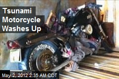 Tsunami Motorcycle Washes Up