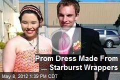 Prom Dress Made From ... Starburst Wrappers