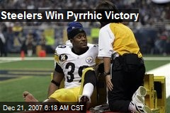 Steelers Win Pyrrhic Victory