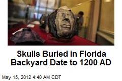 Florida Backyard Skulls Date to 1200 AD