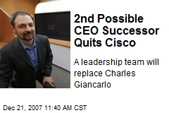 2nd Possible CEO Successor Quits Cisco