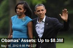 Obamas' Assets: Up to $8.3M