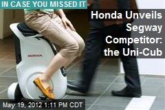 Honda Unveils Segway Competitor: the Uni-Cub