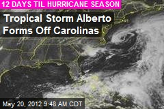 Tropical Storm Alberto Forms Off Carolinas