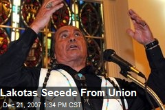 Lakotas Secede From Union