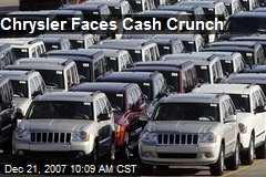Chrysler Faces Cash Crunch