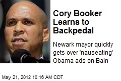 Cory Booker Learns to Backpedal
