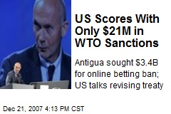 US Scores With Only $21M in WTO Sanctions
