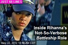 Inside Rihanna's Not-So-Verbose Battleship Role