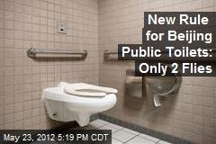 New Rule for Beijing Public Toilets: Only 2 Flies