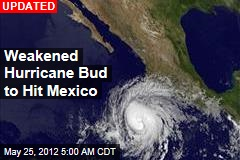 Hurricane Bud Builds Off Mexico
