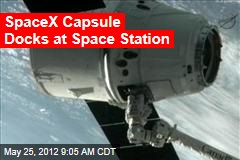 SpaceX Capsule Arrives at Space Station