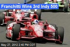 Franchitti Wins 3rd Indy 500