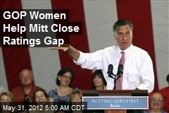 Mitt Closing Ratings Gap, Winning GOP Women