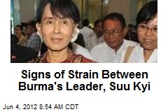 Signs of Strain Between Burma's Leader, Suu Kyi