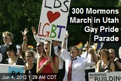 300 Mormons March in Utah Gay Pride Parade