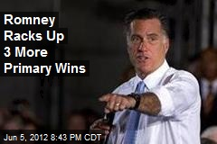 Romney Racks Up 3 More Primary Wins