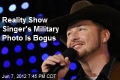 Reality Show Singer's Military Photo Is Bogus