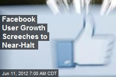 Facebook User Growth Screeches to Near-Halt