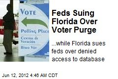 Feds Suing Florida Over Voter Purge