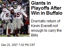 Giants in Playoffs After Win in Buffalo