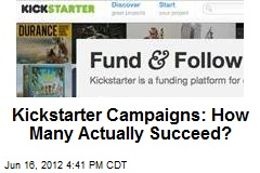 Kickstarter Campaigns: How Many Actually Succeed?
