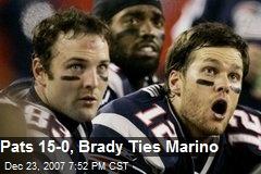 Pats 15-0, Brady Ties Marino