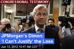 JPMorgan's Dimon: 'I Can't Justify' the Loss