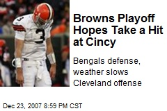 Browns Playoff Hopes Take a Hit at Cincy