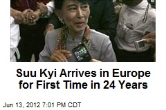 Suu Kyi Arrives in Europe for First Time in 24 Years