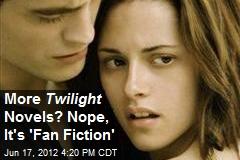 More Twilight Novels? Nope, It's 'Fan Fiction'