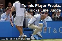 Tennis Player Freaks, Kicks Line Judge
