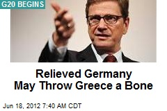 Relieved Germany May Throw Greece a Bone