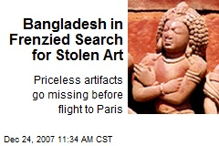 Bangladesh in Frenzied Search for Stolen Art