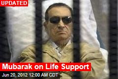 Mubarak Declared 'Clinically Dead'