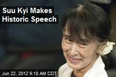 Suu Kyi Makes Historic Speech