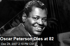 Oscar Peterson Dies at 82