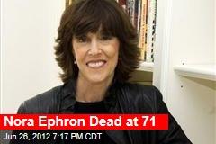 Nora Ephron Seriously Ill