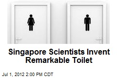 Singapore Scientists Invent Remarkable Toilet