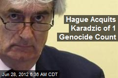 Hague Acquits Karadzic of 1 Genocide Count