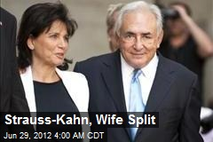 Strauss-Kahn, Wife Split
